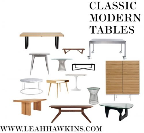 Classic Modern Tables