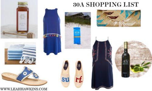 30a Shopping List